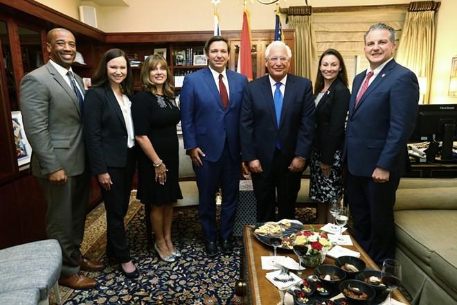 Gov. Ron DeSantis meets with the U.S. Ambassador to Israel, David Friedman - PHOTOS COURTESY OFFICE OF THE GOVERNOR