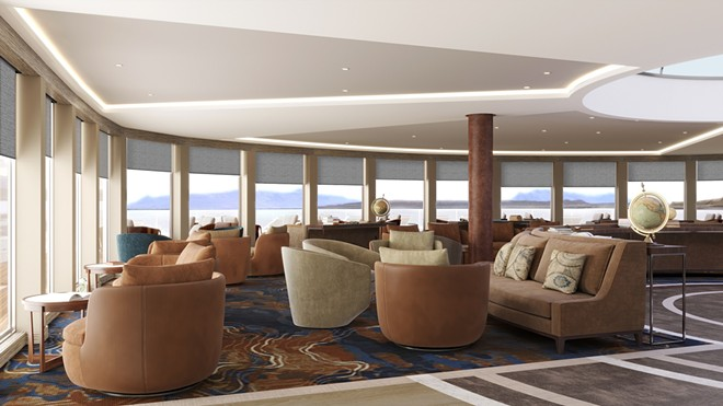Public spaces on the Mystic Cruises vessels are more akin to private membership clubs than the theme park-like settings found on larger ships - IMAGE VIA MYSTIC CRUISES
