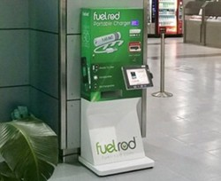 A FuelRod kiosk at Orlando Sanford International Airport - IMAGE VIA FUELROD | TWITTER