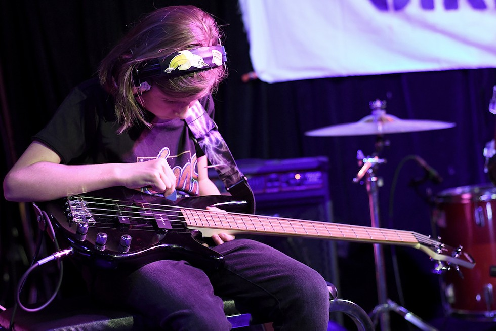 Systematic: Carter (bass) at the Girls Rock Camp Orlando showcase - JEN CRAY
