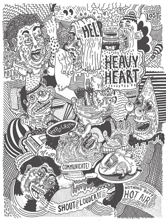 """Shout Louder: Heavy Heart"" - ARTWORK BY ASHLEY TAYLOR"