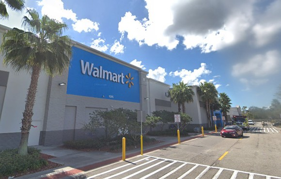 A Gibsonton Walmart was evacuated on Sunday. - PHOTO VIA GOOGLE MAPS