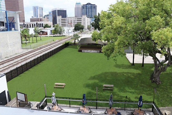 """A rendering of what the new """"Backyard at Ace Cafe"""" will look like in downtown Orlando - IMAGE VIA ACE CAFE ORLANDO"""