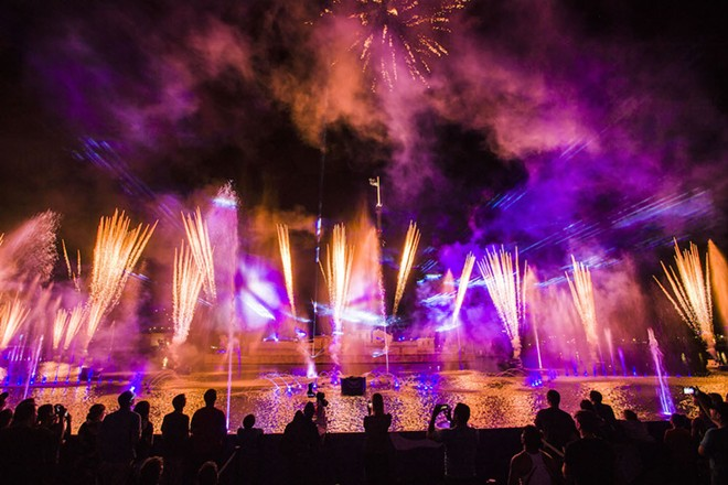 SeaWorld Orlando's Electric Ocean nighttime fireworks show - PHOTO VIA SEAWORLD