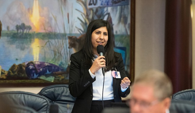 Rep. Anna V. Eskamani speaks during legislative session on April 3, 20919 - PHOTO COURTESY FLORIDA HOUSE OF REPRESENTATIVES