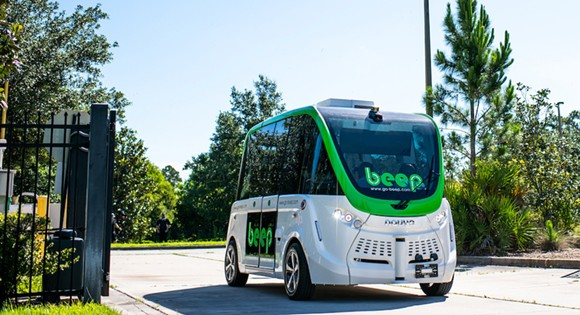 Two autonomous Beep shuttles will operate on a fixed route between two Lake Nona locations. - PHOTO COURTESY LAKE NONA