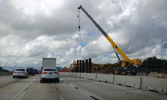 I-4 under construction during I-4 Ultimate - PHOTO BY DAVE PLOTKIN