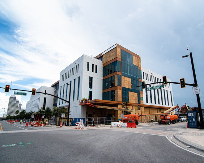 The Dr. Phillips Commons at the new UCF-Valencia downtown campus as it appeared on July 21 - PHOTO BY MATT KELLER LEHMAN
