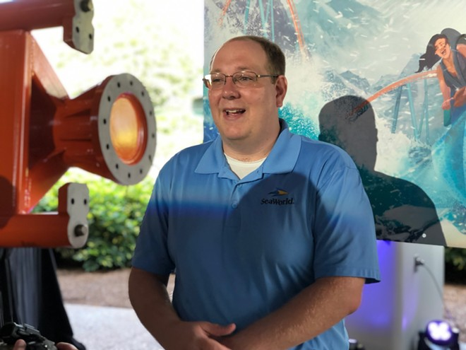 SeaWorld VP of Design and Engineering Brian Andrelczyk - PHOTO BY SETH KUBERSKY