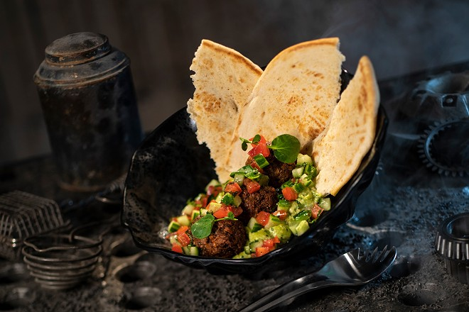 Felucian garden spread from Docking Bay 7 Food & Cargo at Star Wars: Galaxy's Edge - PHOTO VIA WALT DISNEY WORLD
