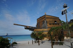 The priate themed Captain Morgan on the Rocks bar on Half Moon Cay - IMAGE VIA CARNIVAL
