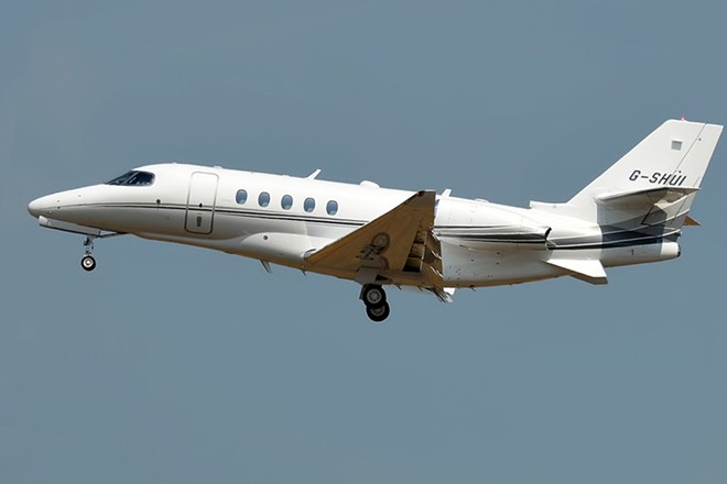 PHOTO OF CESSNA CITATION LATITUDE VIA WIKIMEDIA COMMONS