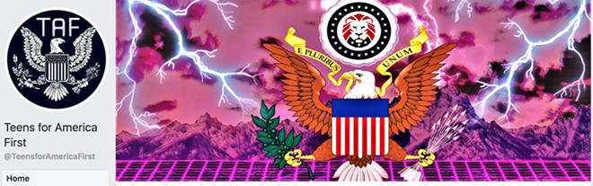 SCREENSHOT OF THE TEENS FOR AMERICA FACEBOOK PAGE