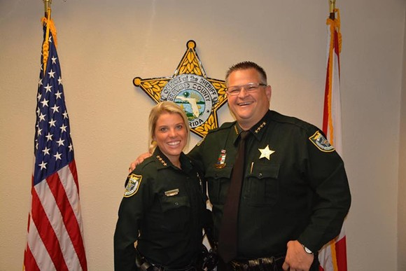 """If you don't fit in with the Evangelical motto """"In God We Trust,"""" or pretend like you do, well, you can go fuck off. Brevard County Sheriff Wayne Ivey is the bro on the right. - PHOTO VIA BREVARD COUNTY SHERIFF'S OFFICE FACEBOOK"""