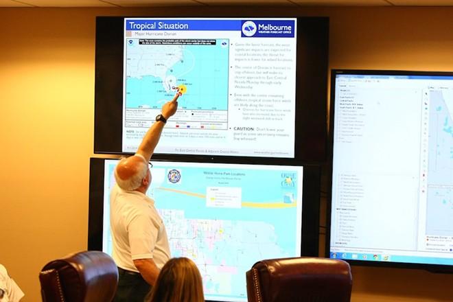 Kotch, before the standards probe, helped Orange County prepare for Hurricane Dorian - PHOTO VIA ORANGE COUNTY TWITTER @ORANGECOFL