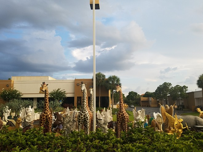 Items awaiting the 2016 estate sale at Holy Land Experience - IMAGE VIA KEN STOREY