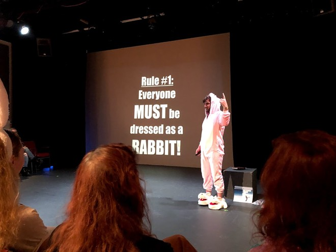 """Jon Bennett performs """"It's Rabbit Night!"""" on opening night of the 2020 Orlando Fringe Winter Mini-Fest, which continues through Jan. 12. - PHOTO BY SETH KUBERSKY"""