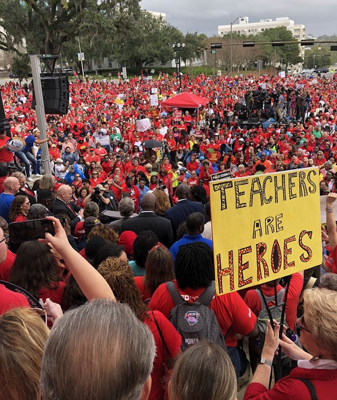 PHOTO BY FLORIDA EDUCATION ASSOCIATION/TWITTER