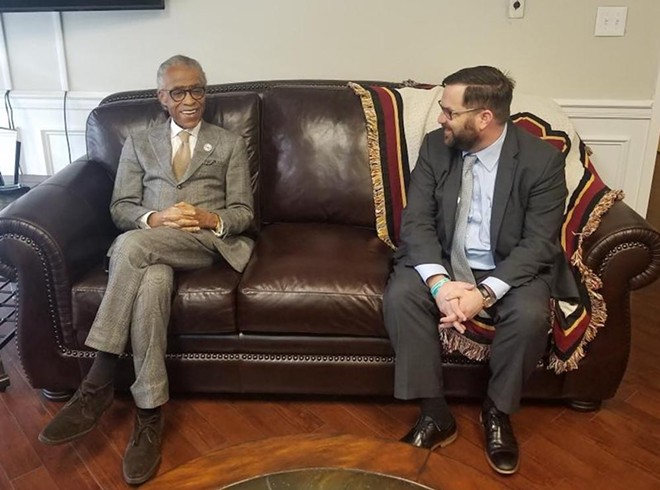 State Sen. Chris Latvala with Rev. Al Sharpton - PHOTO VIA CHRIS LATVALA/TWITTER