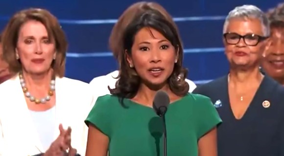 Stephanie Murphy addressing the 2016 Democratic National Convention - SCREENSHOT VIA C-SPAN/YOUTUBE