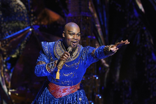 Orlando native Michael James Scott as the Genie - PHOTO BY DEEN VAN MEER