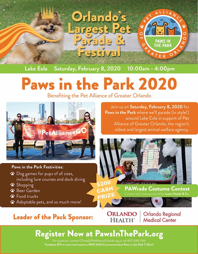 IMAGE COURTESY PAWS IN THE PARK