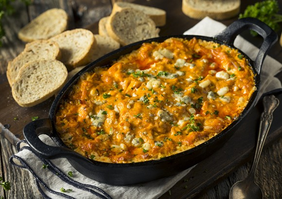 Buffalo chicken dip - PHOTO VIA ADOBE STOCK