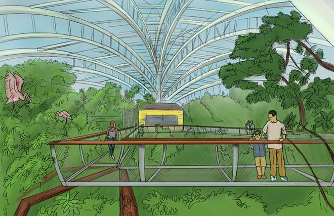 Renderings of the updated Wetlands Trail - IMAGE VIA FLORIDA AQUARIUM