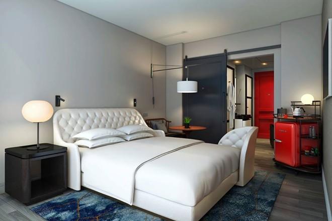 A room at the Virgin Hotel in San Fransico. - IMAGE VIA VIRGIN HOTELS | FACEBOOK