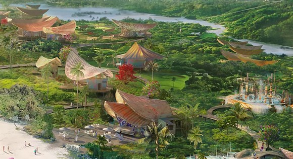 An early concept of Disney's plans for Lighthouse Point on the island of Eleuthera, Bahamas - SCREEN GRAB IMAGE VIA DISNEY PARKS BLOG / YOUTUBE