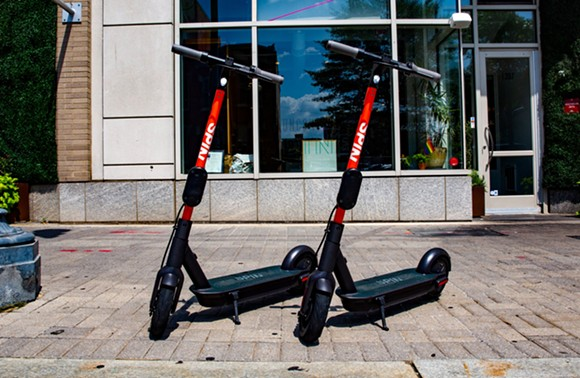 Spin scooters can be conveniently left anywhere in town. Just make sure to park them safely. - COURTSEY OF SPIN