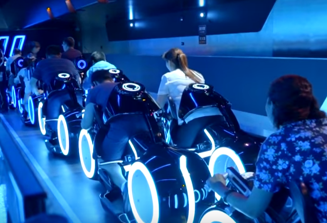 Tron coaster at Shanghai Disneyland - IMAGE VIA SOCAL ATTRACTIONS 360/YOUTUBE