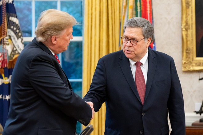 President Donald Trump and Attorney General William Barr - OFFICIAL WHITE HOUSE PHOTO BY TIA DUFOUR