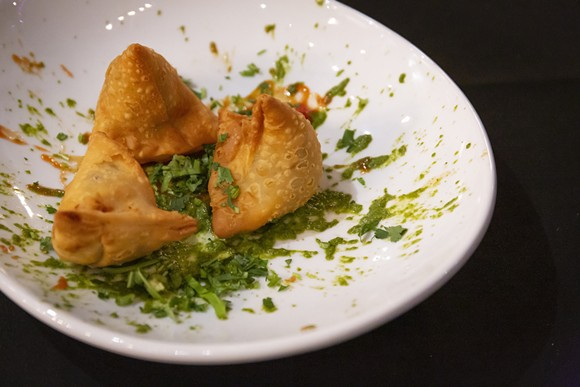 Samosas at El Vic's Kitchen - PHOTO BY ROB BARTLETT