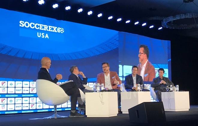 Greater Orlando Sports Commission CEO Jason Siegel discusses Orlando's 2026 World Cup pursuit at Soccerex - PHOTO VIA JASON SIEGEL/TWITTER