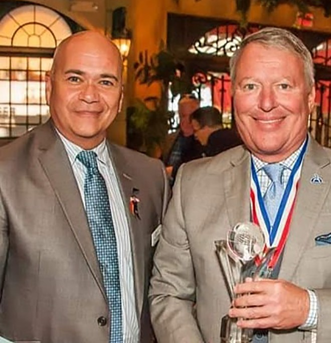 Terry DeCarlo with Mayor Buddy Dyer - PHOTO VIA TERRY DECARLO/FACEBOOK