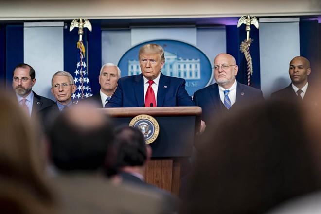 President Donald J. Trump and members of the hisCoronavirus Task Force - THE WHITE HOUSE/WIKI COMMONS