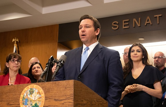 Gov. Ron DeSantis at a January ceremony honoring Emergency Management Directors - PHOTO VIA RON DESANTIS/TWIITER