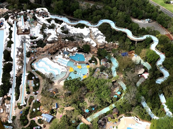Disney's Blizzard Beach Water Park on Monday, March 17, after the park was closed - PHOTO BY SETH KUBERSKY FOR ATTRACTIONS MAGAZINE