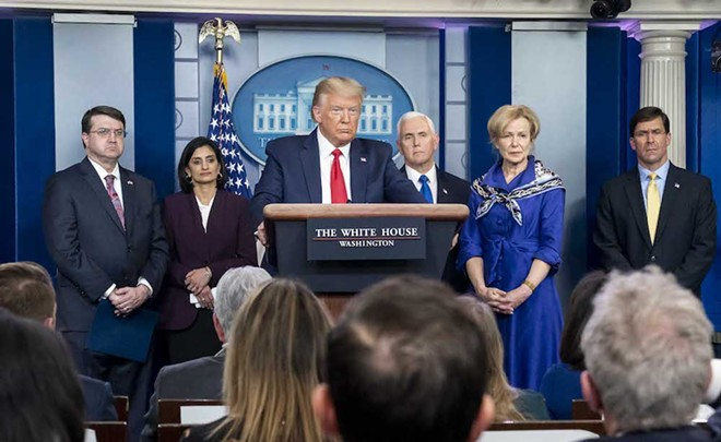 White House press briefing on March 18 - PHOTO VIA THE WHITE HOUSE