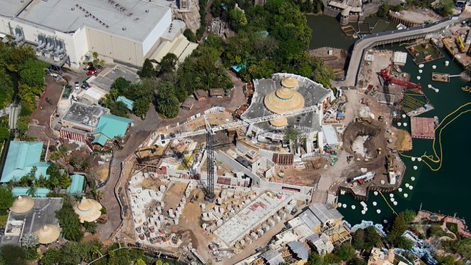 At Islands of Adventure, construction remains active on the Jurassic Park roller coaster. - IMAGE VIA BIORECONSTRUCT | TWITTER