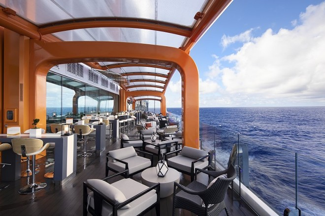The Magic Carpet cantilevered platform - IMAGE VIA CELEBRITY CRUISES