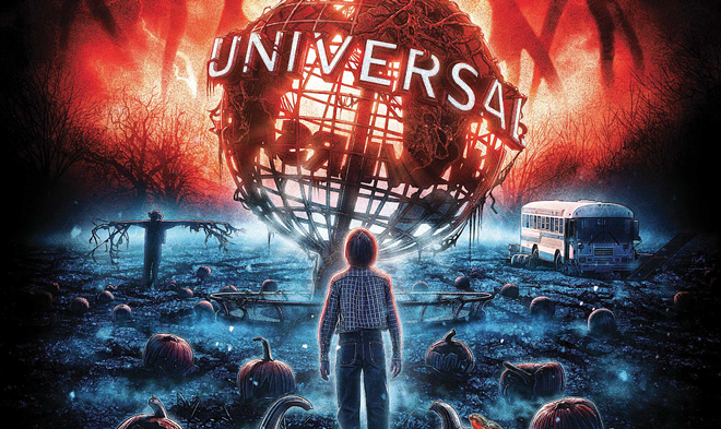 Promotional artwork used for Stranger Things at HHN - CONCEPT ART VIA UNIVERSAL ORLANDO