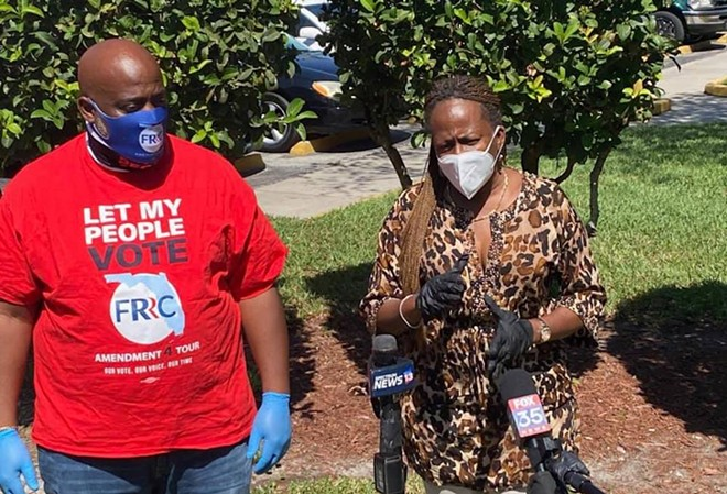 Advocates with the Florida Rights Restoration Coalition interviewed on April 21 - PHOTO VIA FLORIDA RIGHTS RESTORATION COALITION/FACEBOOK