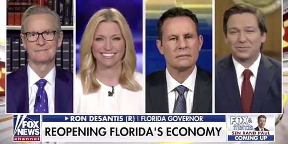 Gov. Ron DeSantis on Fox News - SCREENSHOT OF FOX NEWS VIA ANDY SLATER/TWITTER