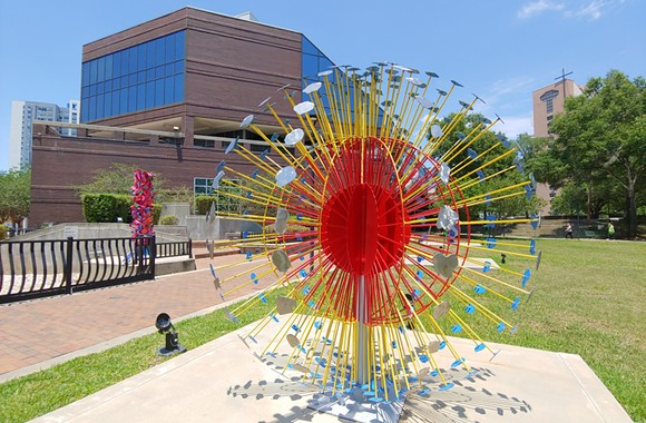 """""""Superstar"""" by Hanna Jubran, in frot of the Orange County Administration Building - PHOTO BY DAVE PLOTKIN"""