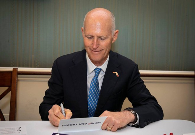 Former Florida governor Sen. Rick Scott - PHOTO VIA RICK SCOTT/TWITTER