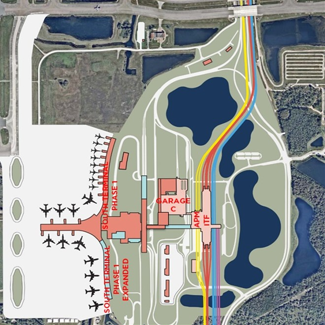 The layout of the South Terminal Complex - IMAGE VIA GREATER ORLANDO AVIATION AUTHORITY