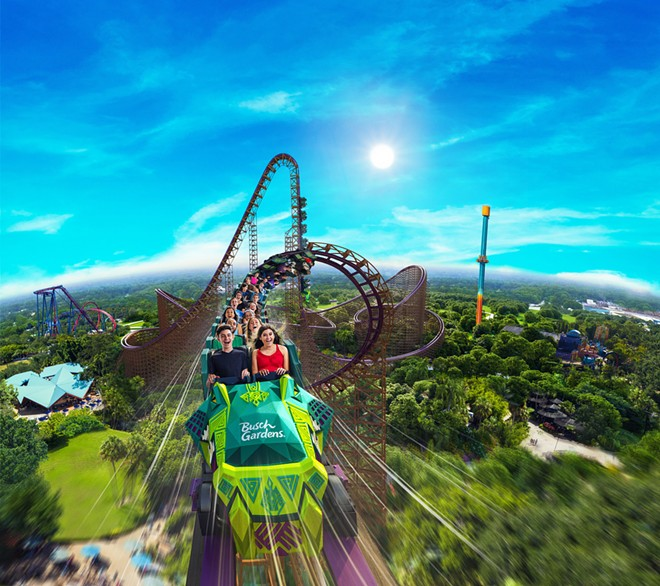 Concept art for Busch Gardens Tampa's new Iron Gwazi coaster - IMAGE VIA SEAWORLD PARKS & ENTERTAINMENT