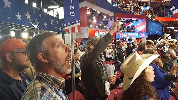 Things get rowdy at the 2016 Republican National Convention - PHOTO COURTESY WIKIMEDIA COMMONS